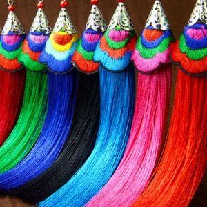 Colorful Long Tassel Fringe Boho Earrings